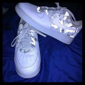 Mens size 12, Camo Airforce one